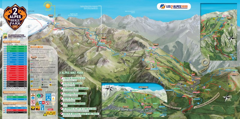 Les Deux Alpes Bike Park Trail Guide and Reviews iBikeRide
