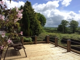 Fantastic views from the Lodge Decking