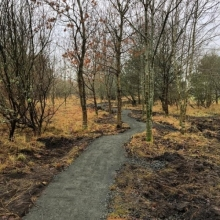 New trails at Lochore Meadows Country Park in Fife, to open on March 19th.